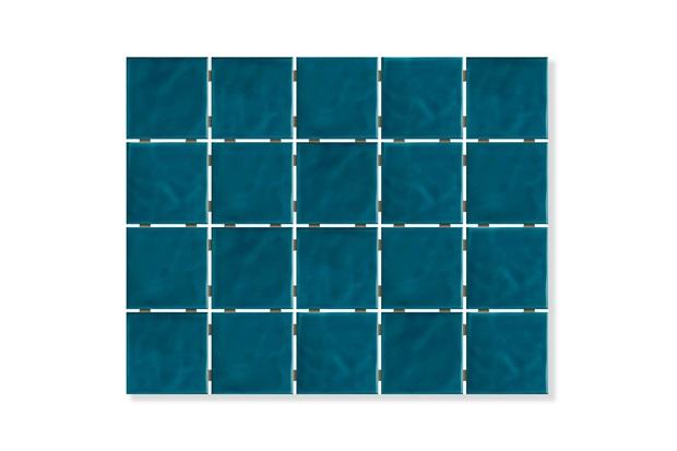 Revestimento Brilhante Borda Bold Azul Mar Onda Mesh 7,5x7,5cm - Eliane