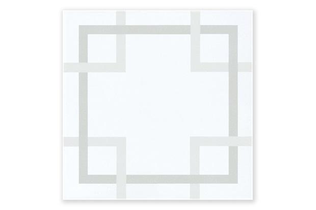 Revestimento Brilhante Borda Bold Bloccare Branco E Cinza 20x20cm - Pierini