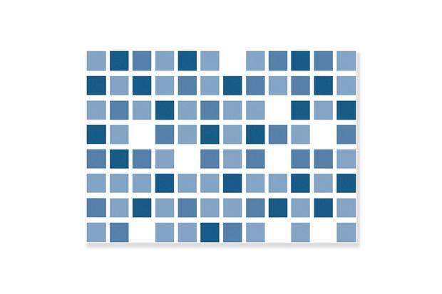 Revestimento Brilhante Borda Bold Dhama Azul 32x45cm - Formigres