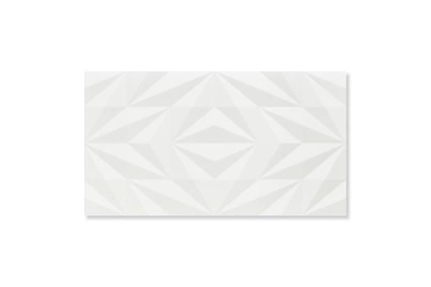 Revestimento Brilhante Borda Reta Losango Branco 32,5x59cm - Eliane