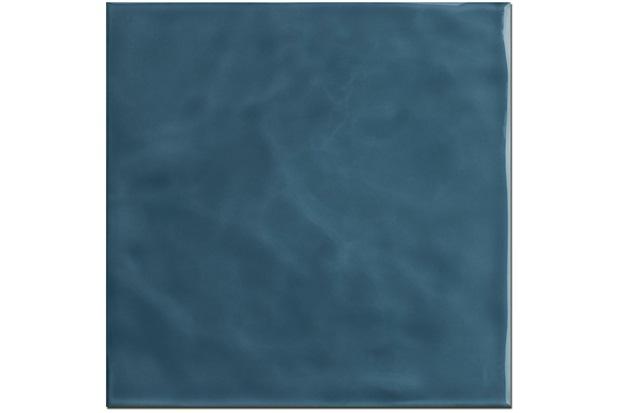 Revestimento Brilhante Borda Reta Marinha Azul Mar Onda 20x20cm - Eliane
