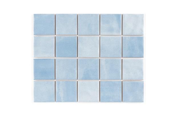 Revestimento Brilhante Borda Reta Noronha Água Mesh Azul 7,5x7,5cm - Eliane