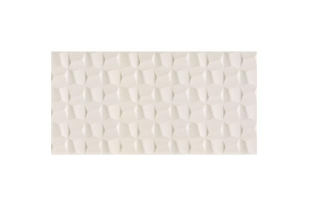 Revestimento Cubic Pérola Retificado Acetinado Branco 45x90cm - Eliane