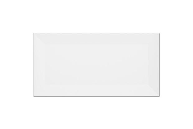 Revestimento Esmaltado Acetinado Borda Bold Metrô White 10x20cm - Eliane