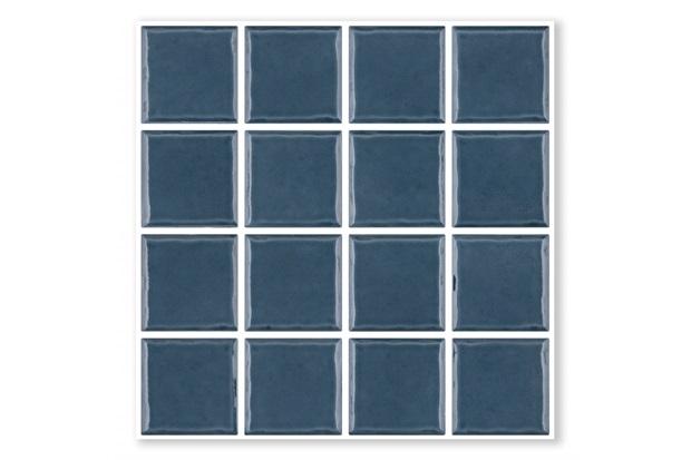 Revestimento Esmaltado Borda Bold Prisma Mirtillo Azul 7,5x7,5cm - Portobello