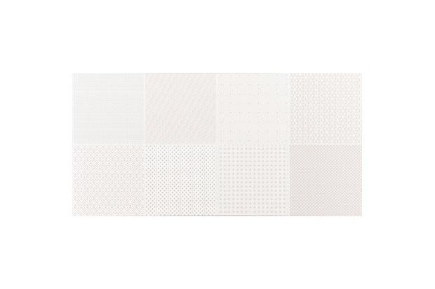 Revestimento Esmaltado Borda Reta Brilhante Azuleja Flora Branco 30x60cm - Portobello