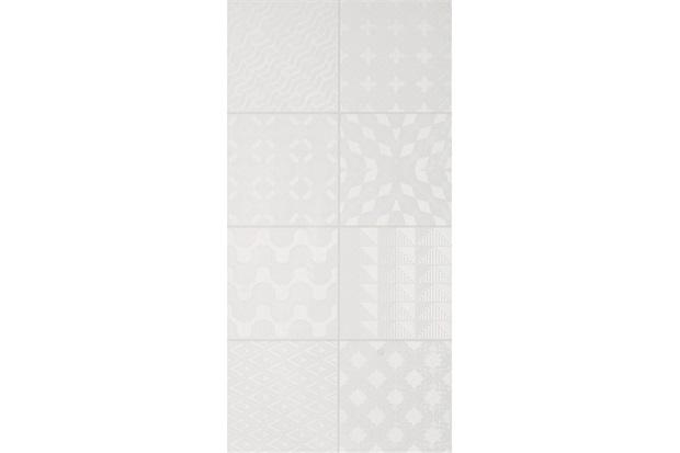 Revestimento Esmaltado Borda Reta Brilhante Azuleja Royal White 30x60cm - Portobello