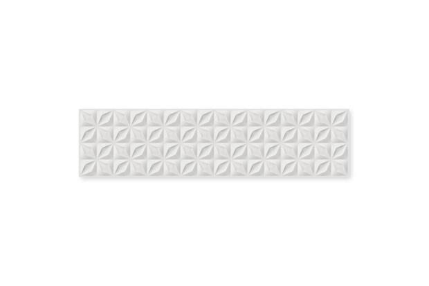 Revestimento Esmaltado Borda Reta Floratta Bianco 28x115cm - Savane