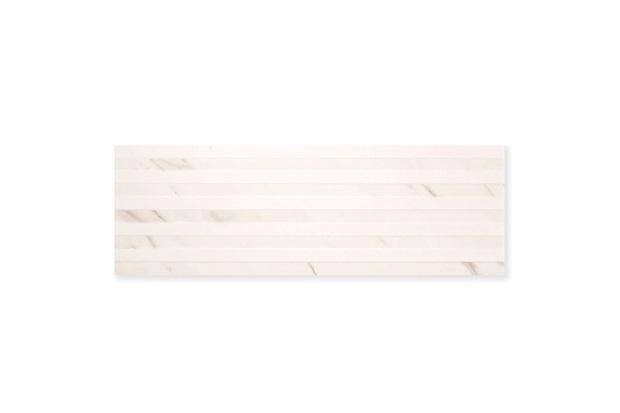 Revestimento Esmaltado Borda Reta Mos Line Bianco Carrara Branco 30x90cm - Portobello