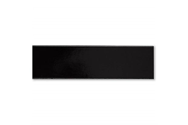 Revestimento Esmaltado Brilhante Borda Bold Chroma Black Assim Tel 7x26cm - Portobello