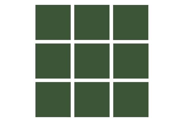Revestimento Esmaltado Brilhante Verde Escuro 10x10cm - Tecnogres
