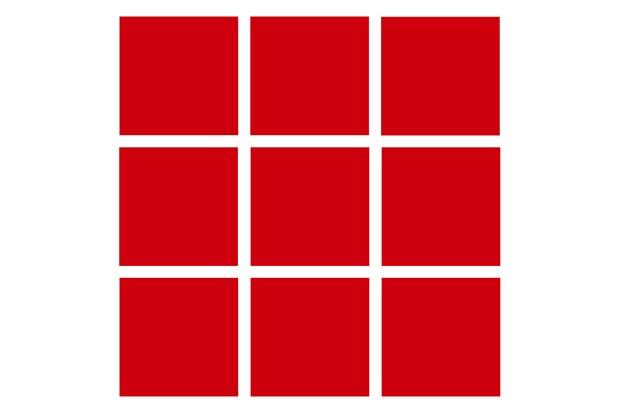 Revestimento Esmaltado Brilhante Vermelho 10x10cm - Tecnogres