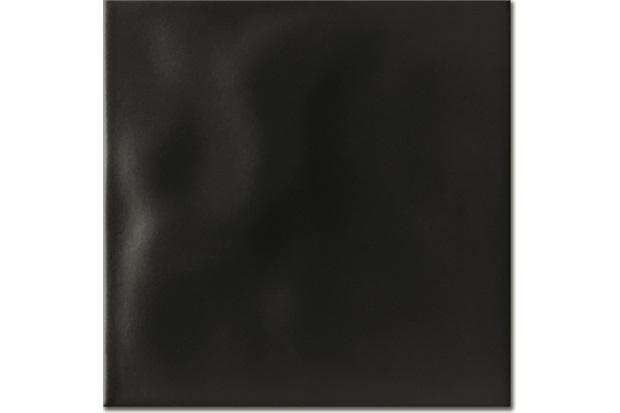 Revestimento Esmaltado Fosco Borda Bold Rima Matte Black 20x20cm - Portinari