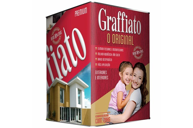 Revestimento Graffiato Premium Riscado Branco Neve 28kg - Graffiato