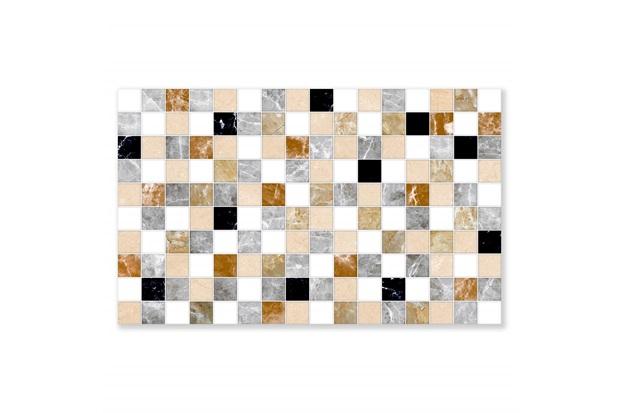 Revestimento Hd Brilhante Borda Bold Aquarela Marrom 35x57cm - Formigres