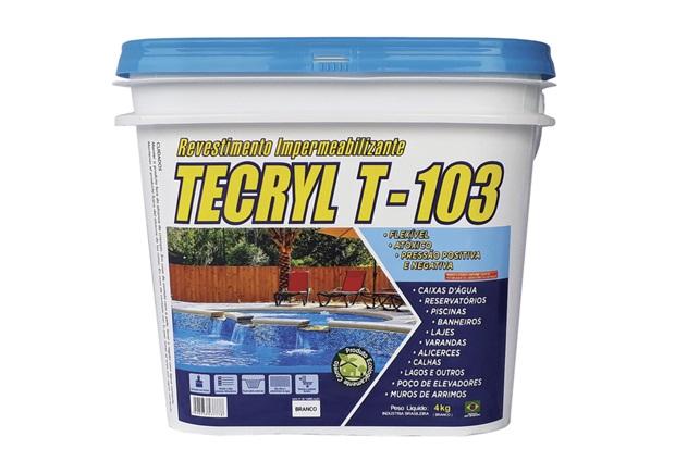 Revestimento Impermeabilizante T-103 4kg Branco - Tecryl Impermeabilizantes