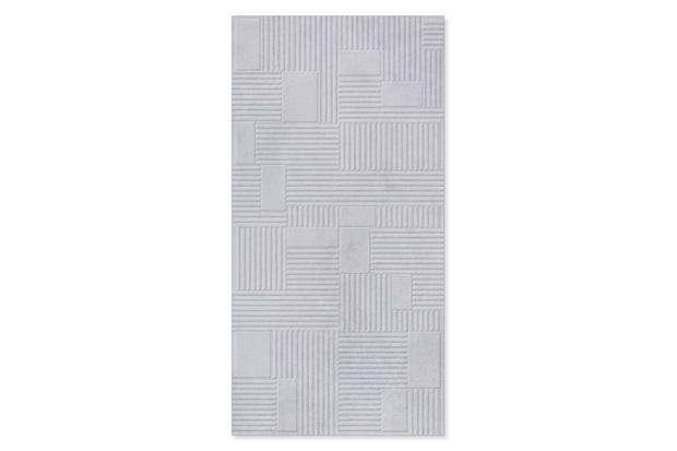 Revestimento Relevo Borda Reta Milano Cemento 45x90cm - Biancogres