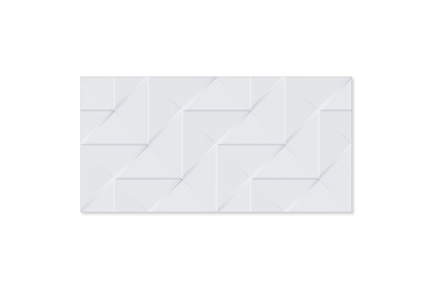 Revestimento Relevo Borda Reta Origami Bianco 45x90cm - Biancogres