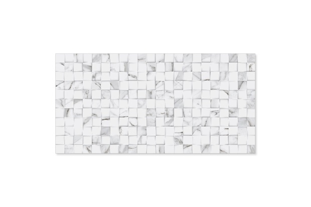 Revestimento Relevo Borda Reta Quantum Carrara 45x90cm - Biancogres