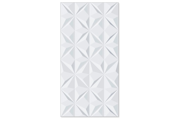 Revestimento Relevo Borda Reta Trend Bianco 45x90cm - Biancogres