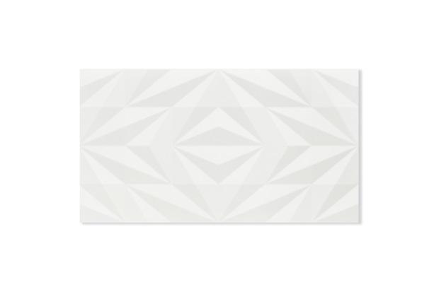 Revestimento Retificado Acetinado Losango Branco 32,5x59cm - Eliane