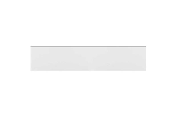 Rodapé Acetinado Borda Bold Branco 25x118,2cm - Eliane