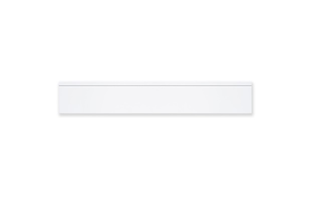 Rodapé de Porcelanato Natural Borda Reta Opera White 19x117cm - Portinari