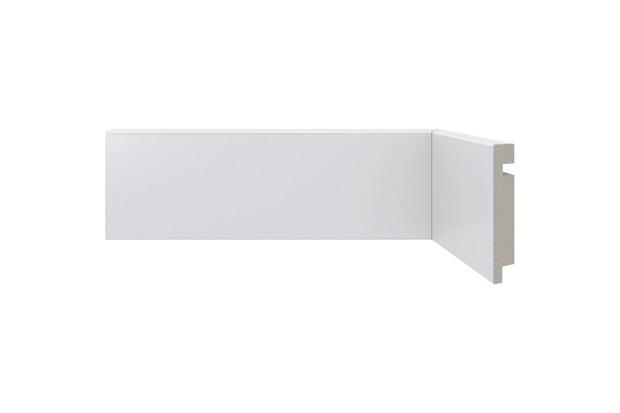 Rodapé em Poliestireno Moderna 451 Branco 7x240cm - Santa Luzia