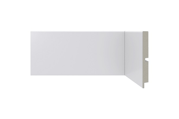 Rodapé em Poliestireno Moderna 454 Branco 10x240cm - Santa Luzia