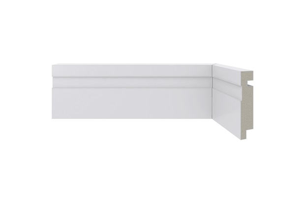 Rodapé em Poliestireno Moderna 456 Branco 7x240cm - Santa Luzia