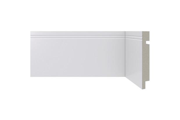 Rodapé em Poliestireno Moderna 460 Branco 10x240cm - Santa Luzia