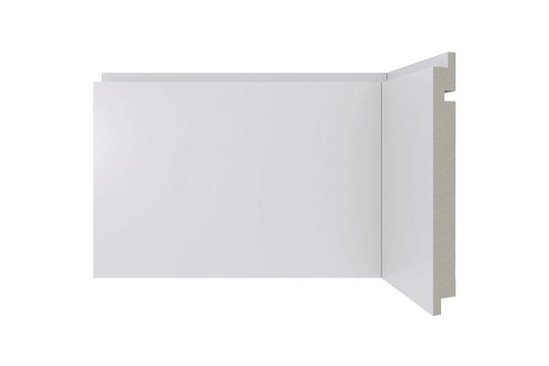 Rodapé em Poliestireno Moderna 461 Branco 15x240cm - Santa Luzia
