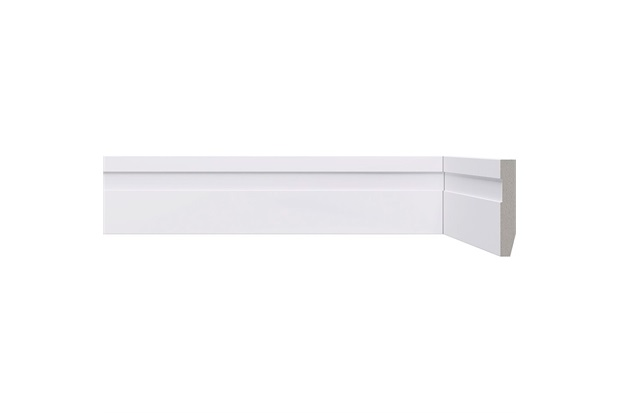 Rodapé em Poliestireno Renova com Friso 5x0,8x220cm Branco - Bellitas