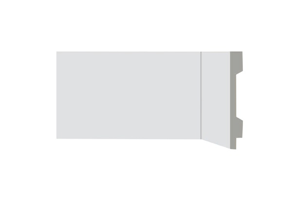 Rodapé em Poliestireno Renova Flex com Vinco 1,3x10x220cm Branco - Bellitas