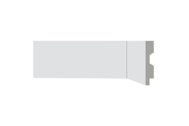 Rodapé em Poliestireno Renova Flex com Vinco 7x1,3x220cm Branco - Bellitas