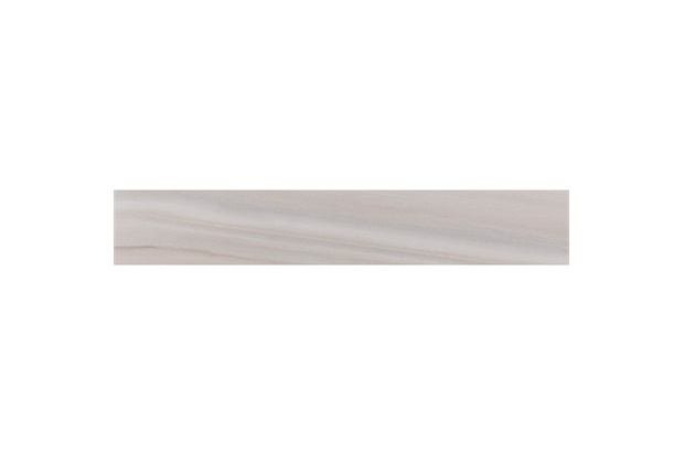 Rodapé Opale Greige Polido Cinza 20x120cm - Portobello