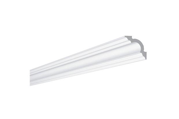 Rodateto em Poliestireno D8 5x5x200cm Branco - Gart