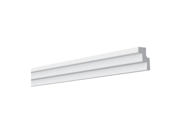 Rodateto em Poliestireno K1 2x3x200cm Branco - Gart