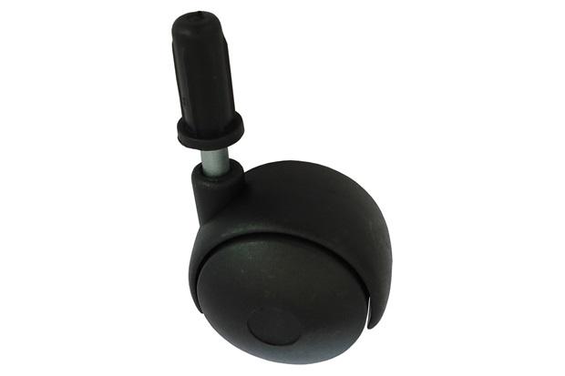 Rodízio Giratório com Pino de Encaixe 30mm Preto - Fixtil