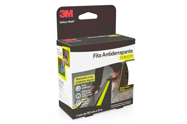 Rolo de Fita Antiderrapante Safety-Walk 50mm com 5 Metros Neon - 3M