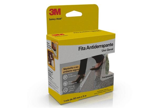 Rolo de Fita Antiderrapante Safety-Walk 50mm com 5 Metros Transparente - 3M