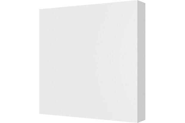 Roseta em Poliuretano Quadrada Clássica 10x10cm Branco - Santa Luzia