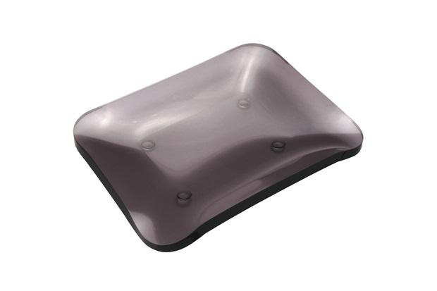 Saboneteira de Bancada em Acrílico Clássica 13x2cm Fumê - Formacril
