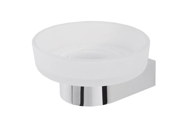 Saboneteira de Vidro Focus Cromada - Perflex