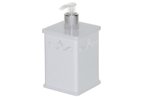 Saboneteira para Sabonete Liquido com Desenho Branco 300ml  - Formacril