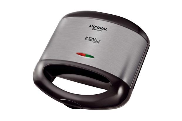 Sanduicheira E Grill em Inox Premium S-07 800w 220v Preta - Mondial