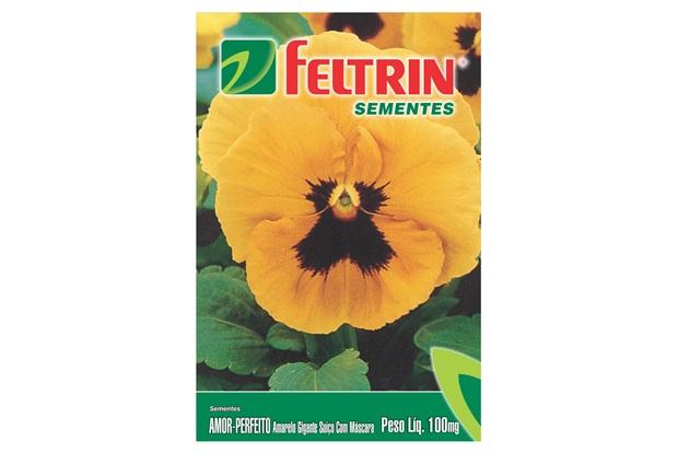 Semente de Flor Amor Perfeito Amarelo 100mg - Feltrin