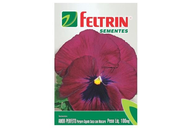 Semente de Flor Amor Perfeito Púrpura Gigante 100mg - Feltrin