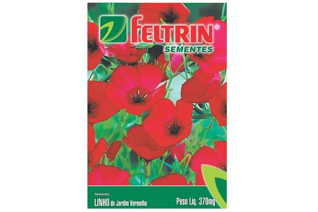 Semente de Flor Linho de Jardim Vermelha 370mg - Feltrin