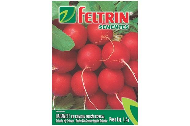 Sementes de Rabanete Crimson Gigante Redondo 1,4g - Feltrin